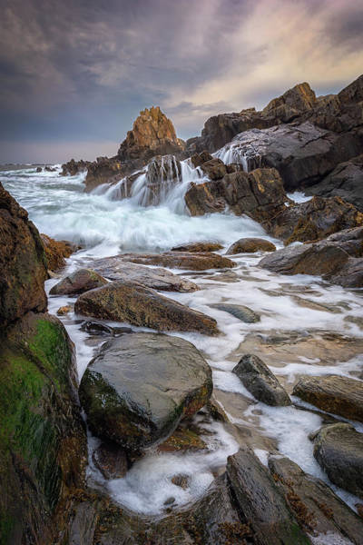 Photograph - Battering Waves At Pinnacle Rock by Kristen Wilkinson