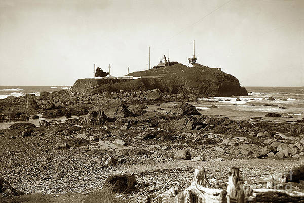 Photograph - Battery Point Light, Crescent City   Del Norte County  Circa 193 by California Views Archives Mr Pat Hathaway Archives