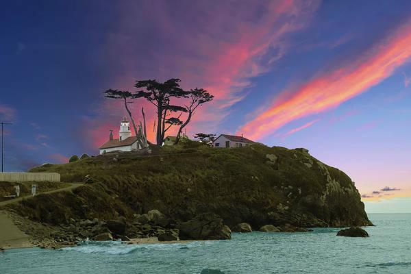 Photograph - Battery Point Lighthouse At Sunset  by Steve Estvanik
