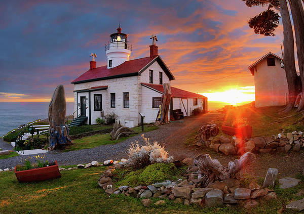 Battery D Wall Art - Photograph - Battery Point Lighthouse by Leland D Howard