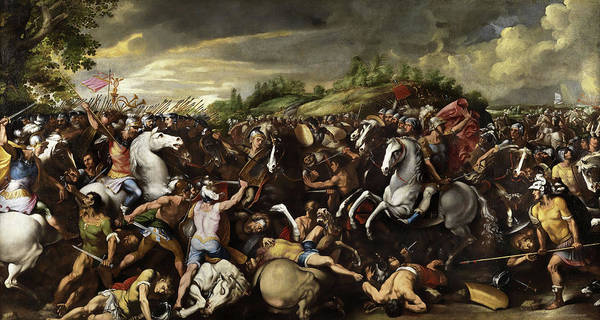 Wall Art - Painting - Battle Between The Romans And The Venetians by Francesco Allegrini
