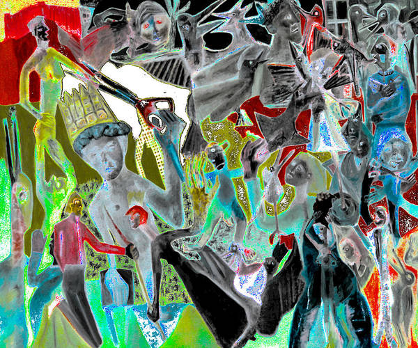 Digital Art - Battle Crowd Cape by Artist Dot