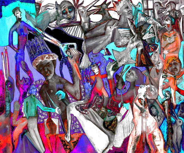 Digital Art - Battle Crowd Disco by Artist Dot