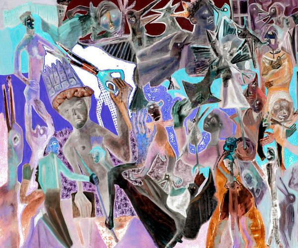 Digital Art - Battle Crowd Morning by Artist Dot