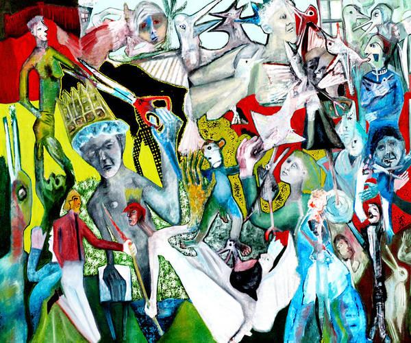 Digital Art - Battle Crowd Scissors by Artist Dot