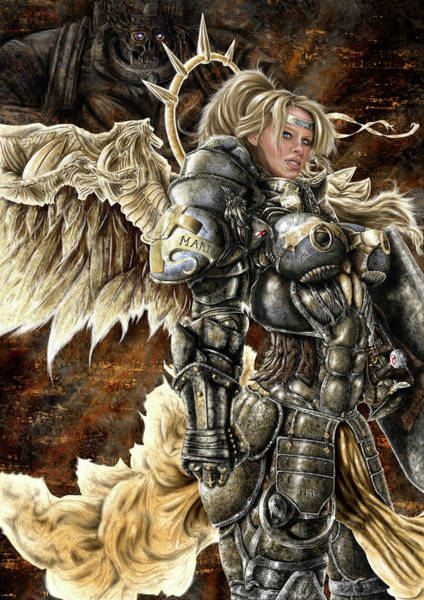 Paladin Digital Art - Battle-maiden Valencia by Andrew Laidler