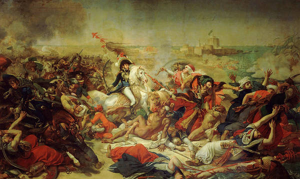 Wall Art - Painting - Battle Of Aboukir, 25 July 1799, 1806 by Antoine-Jean Gros