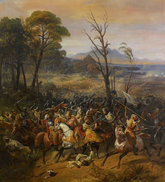 Wall Art - Painting - Battle Of Arsuf by Eloi Firmin Feron