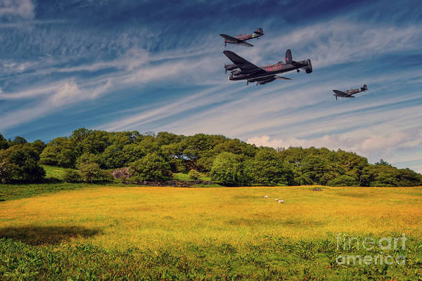 Photograph - Battle Of Britain Memorial Flight  by Adrian Evans