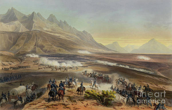 Wall Art - Painting - Battle Of Buena Vista by Carl Nebel