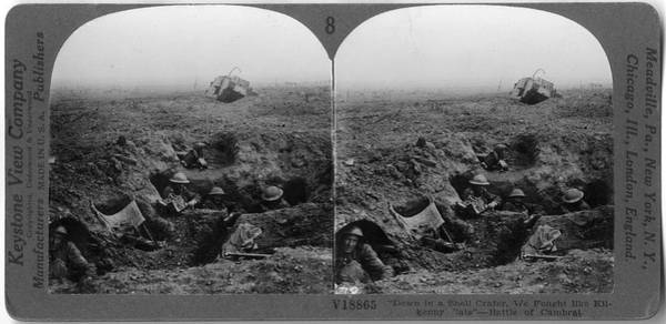 Trench Wall Art - Photograph - Battle Of Cambrai by The New York Historical Society