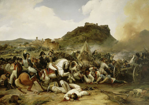 Wall Art - Painting - Battle Of Castalla, 21 July 1812 by Jean-Charles Langlois