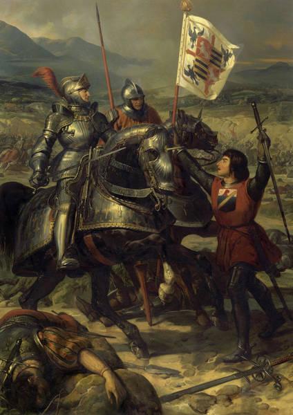 Wall Art - Painting - Battle Of Fornovo, 1495 by Eloi Firmin Feron