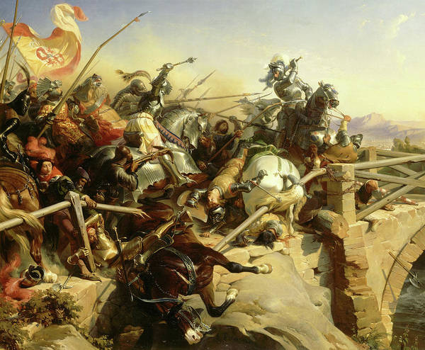 Wall Art - Painting - Battle Of Garigliano by Felix Philippoteaux