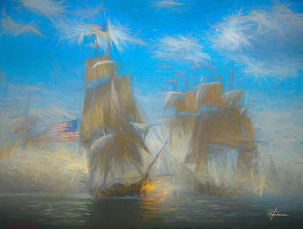 Digital Art - Battle Of Lake Erie by Per Andersson