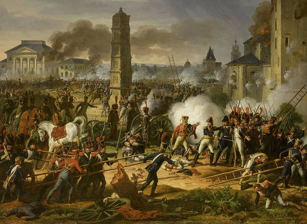 Wall Art - Painting - Battle Of Ratisbon, 1809 by Charles Thevenin