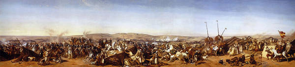 Wall Art - Painting - Battle Of The Smala, 16 May 1843 by Horace Vernet