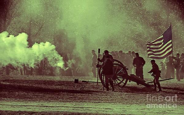 Artillery Brigade Photograph - Battlefield Selective Color by Charleen Treasures