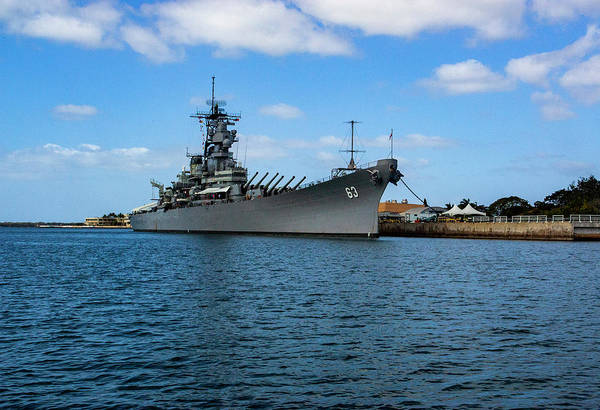 Photograph - Battleship Missouri by Anthony Jones