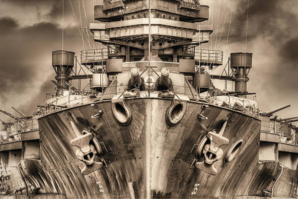 Photograph - Battleship U S S Texas In Sepia by JC Findley
