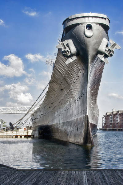 Strength Photograph - Battleship Uss Wisconsin Bb64 by Tom Mc Nemar