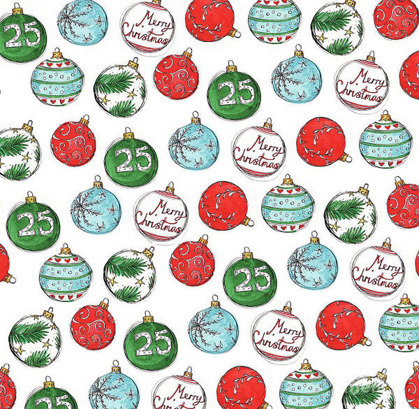 Wallpaper Mixed Media - Baubles by Madeline Floyd