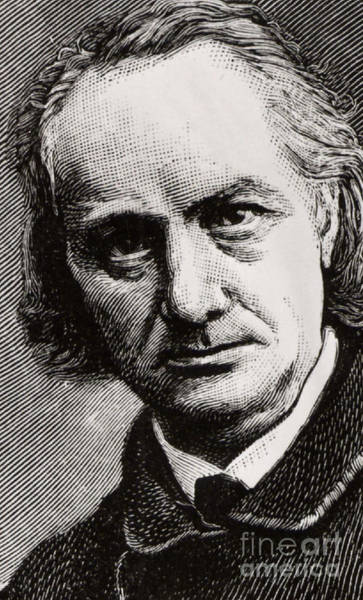 Wall Art - Drawing - Baudelaire, Engraving After A Photograph Taken In 1864 by French School