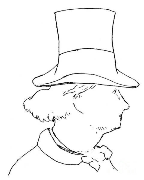 Wall Art - Drawing - Baudelaire Line Drawing By Manet by Edouard Manet