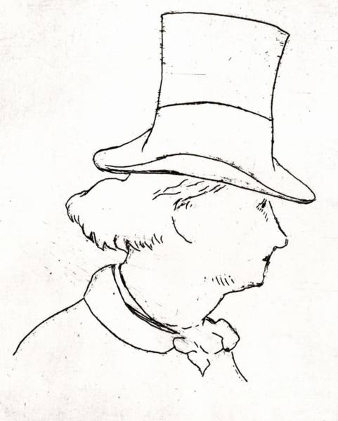 Wall Art - Drawing - Baudelaire Sketch By Manet by Edouard Manet