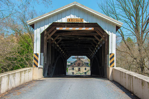 Wall Art - Photograph - Baumgardeners Mill Covered Bridge by Bill Cannon