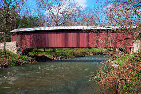 Wall Art - Photograph - Baumgardners Covered Bridge And Pequea Creek by Bill Cannon