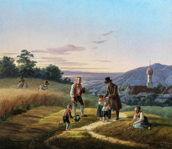 Wall Art - Painting - Bavarian Landscape, 19th Century by Lorenzo Quaglio