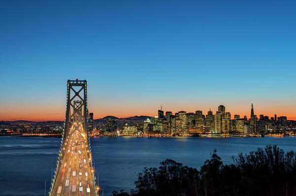 Photograph - Bay Bridge And San Francisco Skyline At by Thomas Winz