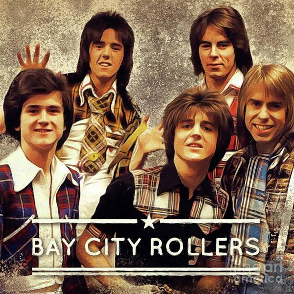 Wall Art - Painting - Bay City Rollers by Esoterica Art Agency