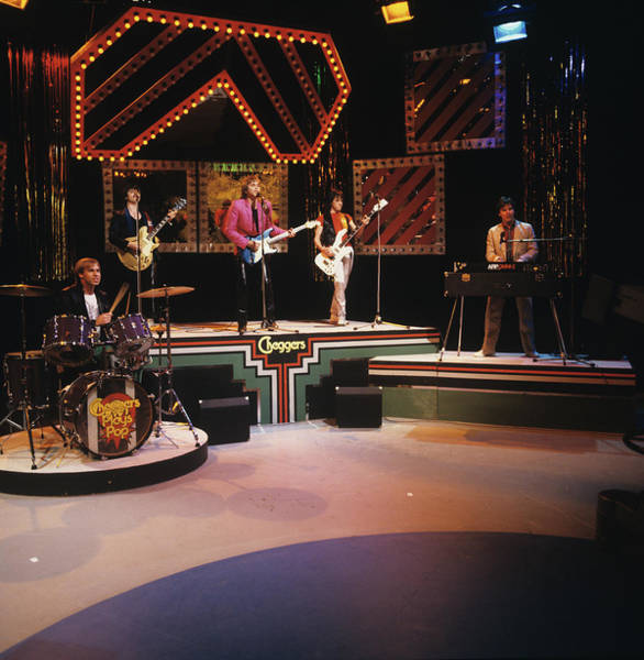 Wall Art - Photograph - Bay City Rollers Perform On Tv Show by Mike Prior