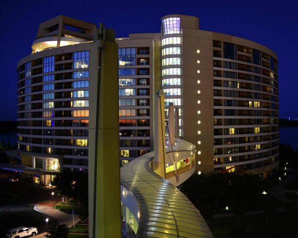 Wall Art - Photograph - Bay Lake Towers Architecture by David Lee Thompson