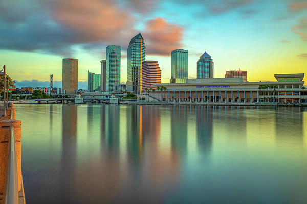 Wall Art - Photograph - Bay View Of Tampa Florida Skyline by Gregory Ballos