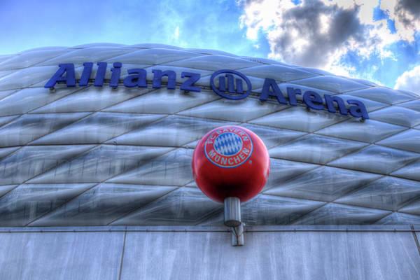 Wall Art - Photograph - Bayern Munich Allianz Arena  by David Pyatt
