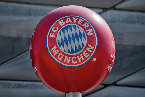 Wall Art - Photograph - Bayern Munich Club Logo by David Pyatt