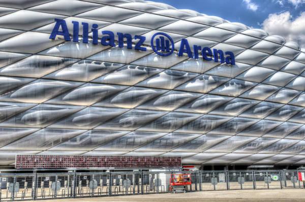 Wall Art - Photograph - Bayern Munich Arena by David Pyatt