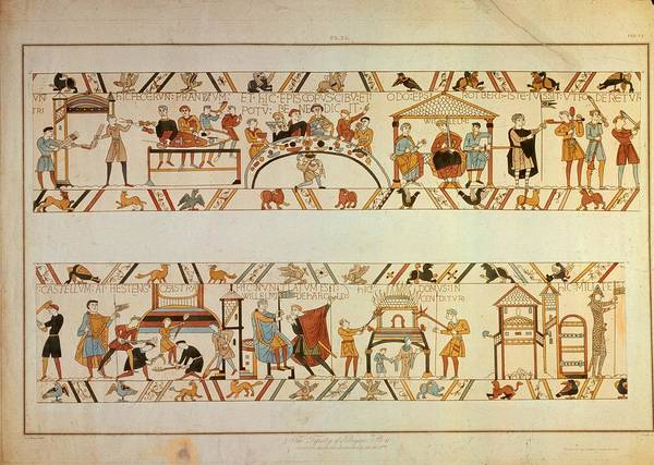 Printmaking Photograph - Bayeux Tapestry by Hulton Archive