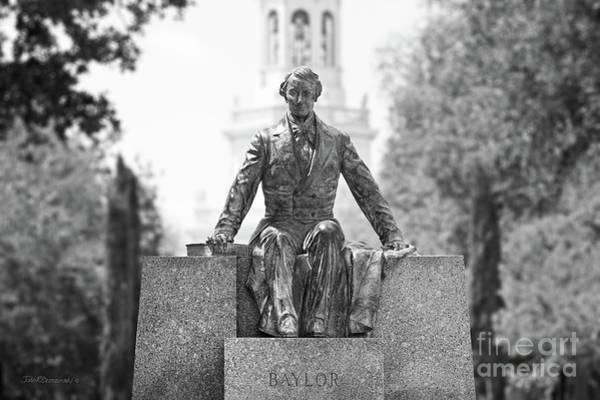 Photograph - Baylor University Judge Baylor Statue by University Icons