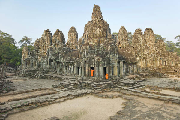 Reap Photograph - Bayon Temple by Martin Puddy