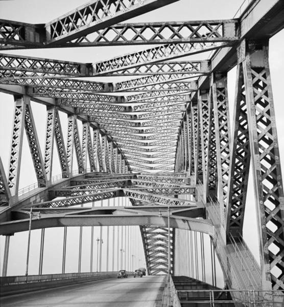 Photograph - Bayonne Bridge by Andreas Feininger