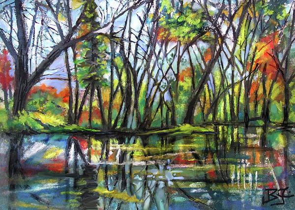 Pastel - Bayou Reflections by Jean Batzell Fitzgerald