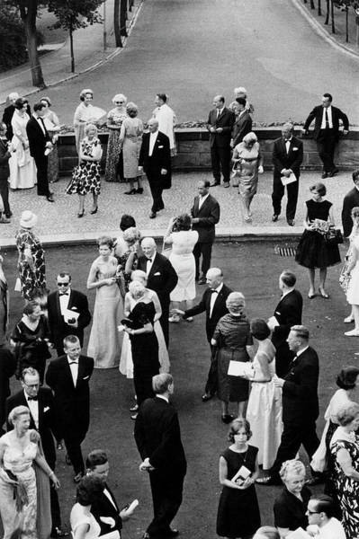 Formalwear Photograph - Bayreuth Festival by Erich Auerbach
