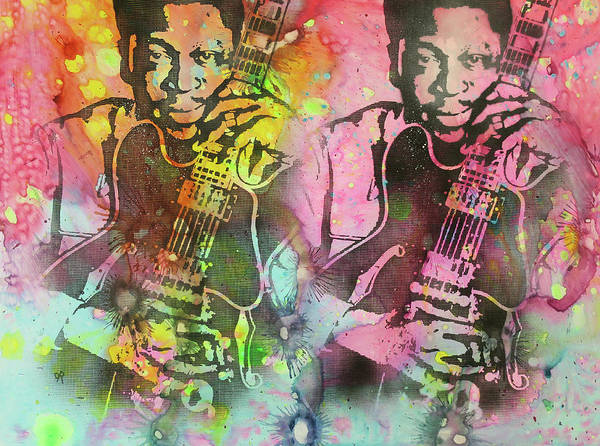 B B King Wall Art - Painting - B.b. King 2x by Dean Russo Art