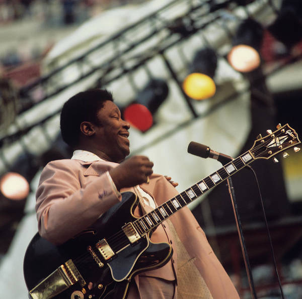B B King Wall Art - Photograph - B.b. King Performs On Stage by David Redfern