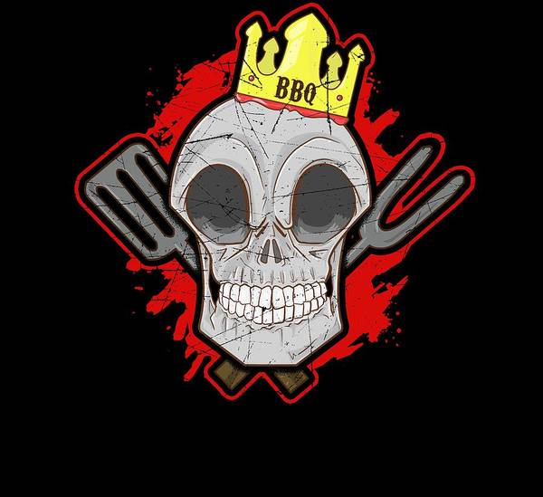 Cookout Digital Art - Bbq King by Twin Tee