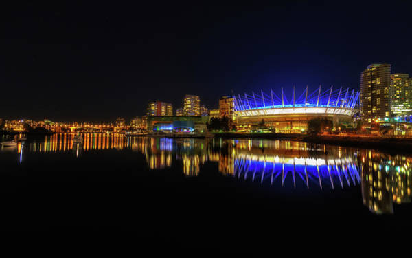 False Creek Wall Art - Photograph - Bc Arena At Night  by Chris Fletcher